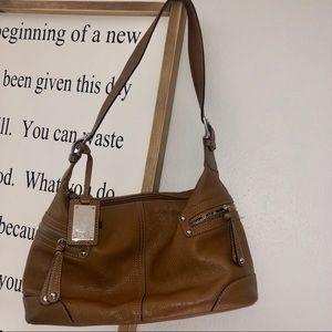 Tignanello brown leather shoulder bag